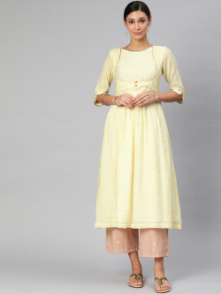Alena Womens Off White Fashion Kurta