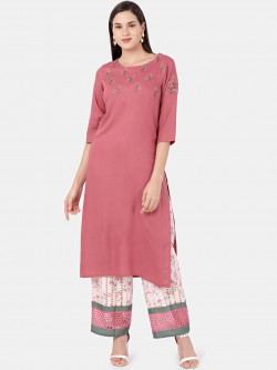 Alena Women Pink Fashion Kurta with Palazzo
